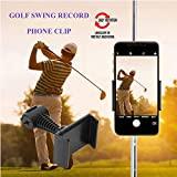 Support de téléphone de golf Aide à l'enregistrement de swing Chariot de golf Chariot de GPS Entraînement Mentor Alignement du bâton Clip du sac de golf Arbre de montage Pince ajustable