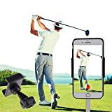 SIZIMA® Golf Mobile Holder, Accessoires d'entraînement pour l'enregistrement du swing de golf, Porte-clip cellulaire universel Guidon de moto, Support de voiture mobile, pivotant à 360