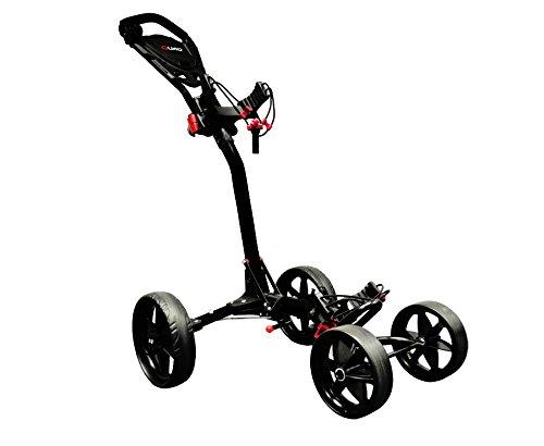Ezeglide Compact Quad - voiturette de golf à main avec roues, couleur noire, taille s/o